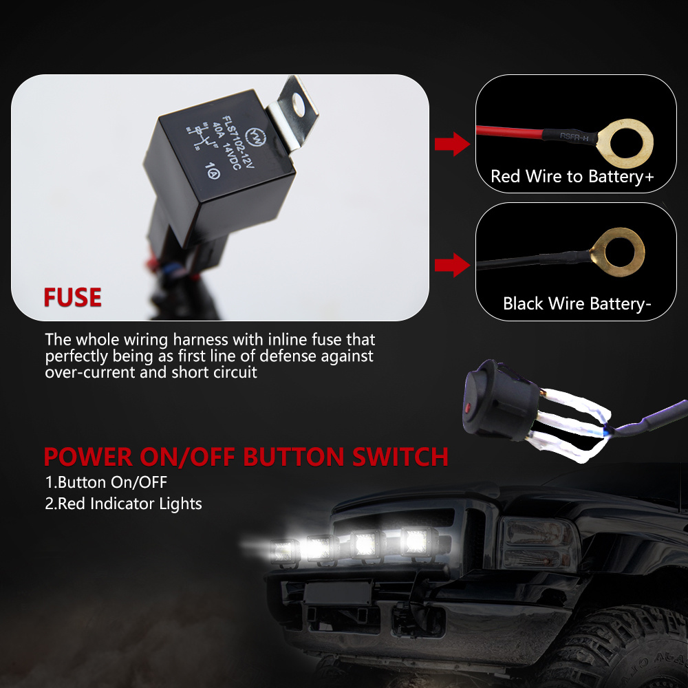 medium resolution of auto parts led lighting 140w 240w one control one two switch cable wire harness