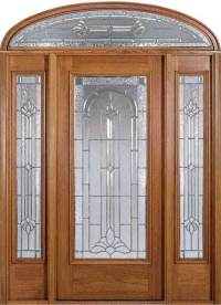 China Prehung Exterior Wood Door With 2 Sidelites - China ...