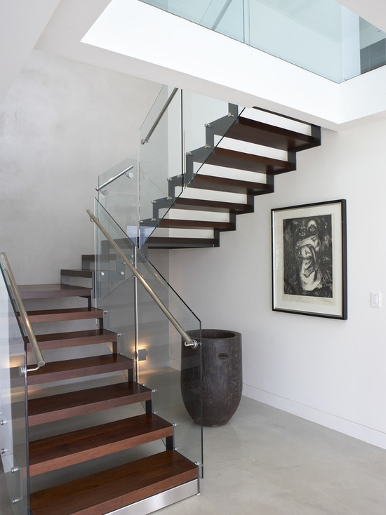 China U Shape Stairs With Side Steel Stringer Wood Step | Stairs With Glass Sides