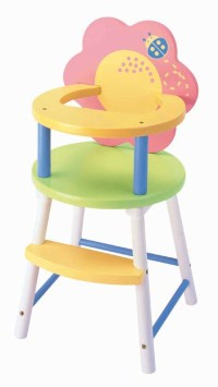 China Doll High Chair - China doll high chair, wood toys