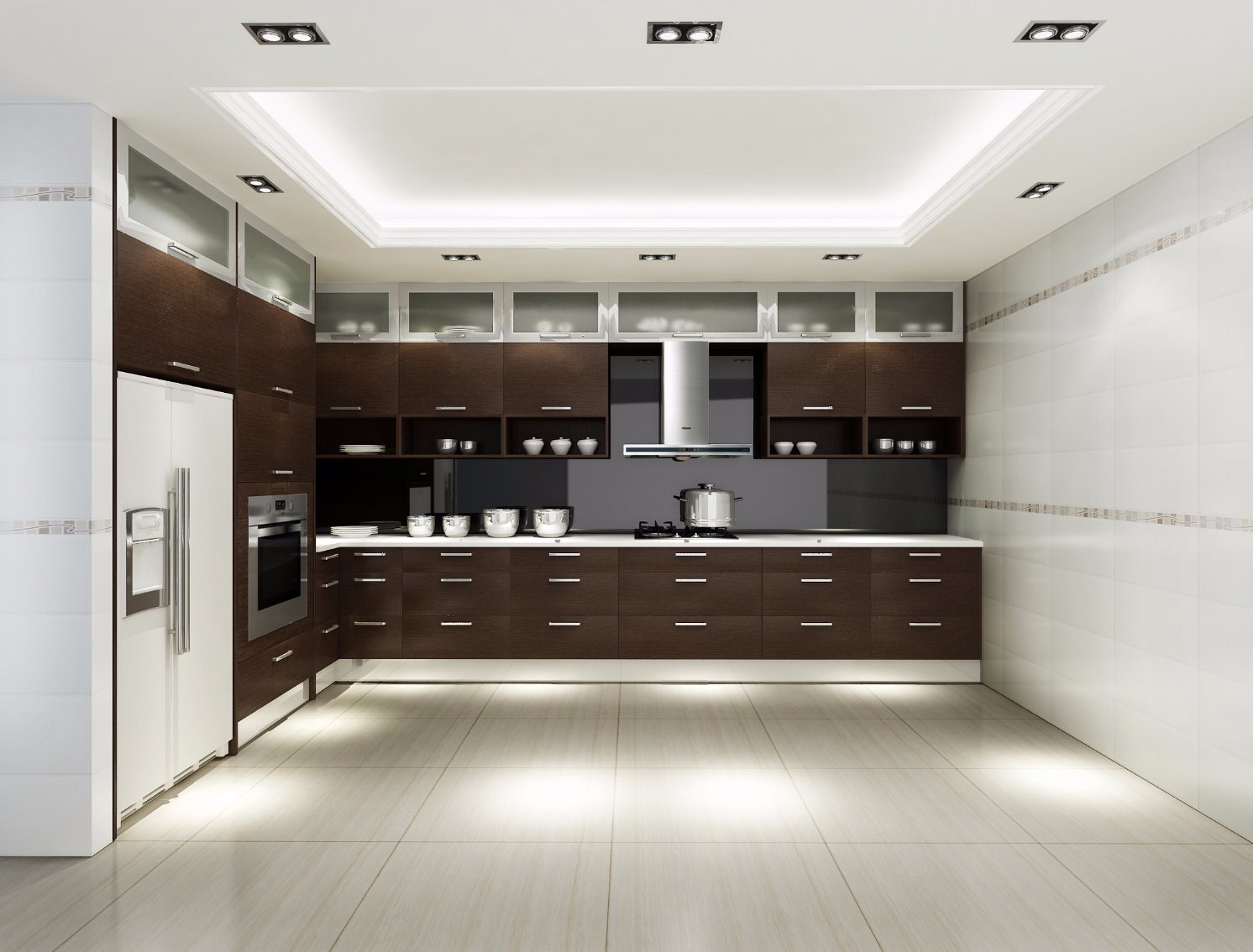 China Custom Kitchen Design Modern Style High Gloss Wood Kitchen Cabinet Photos Pictures Made In China Com