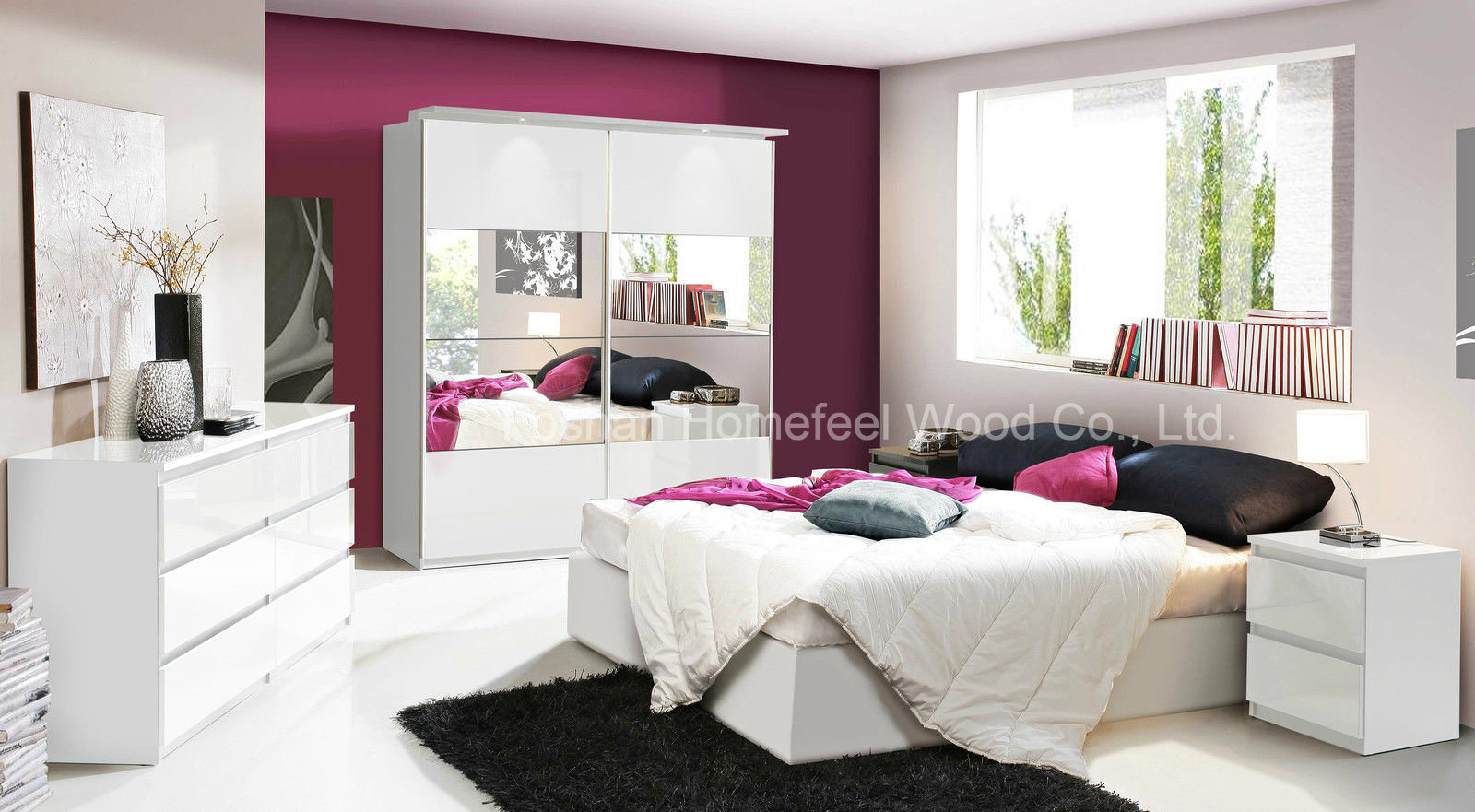 china modern bedroom furniture in white