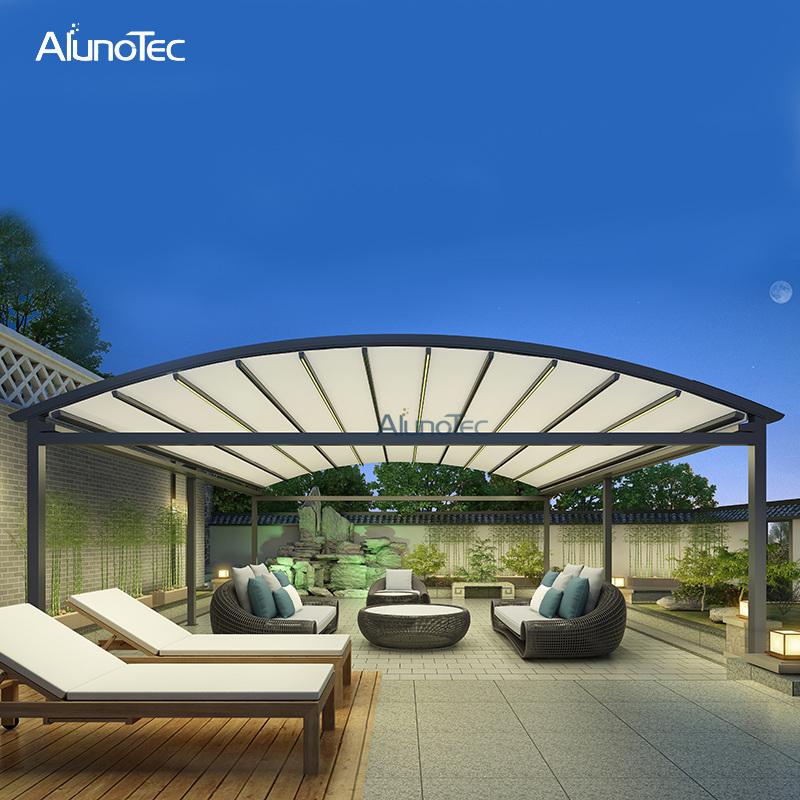 china waterproof retractable roof