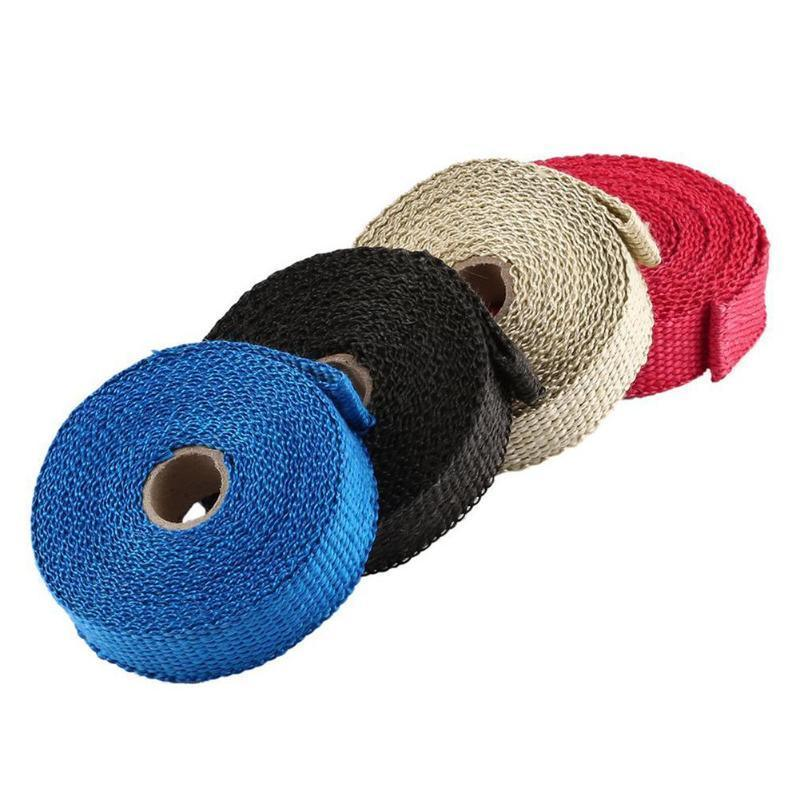 hot item high heat fiberglass insulation exhaust pipe wrap tape cloth for motorcycle exhaust system