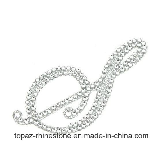 China Fashion Rhinestone Alphabet Monogram Stickers Letter