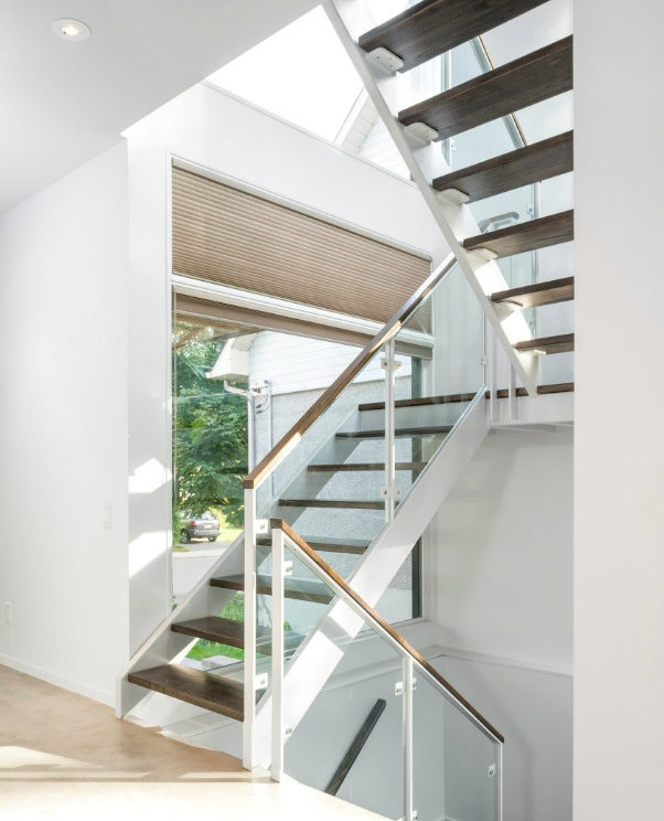 China Modern U Shaped Steel Wood Stair Design With Glass   Modern U Shaped Staircase   Design   Floating   Interior   Amazing Modern   Oval Shaped