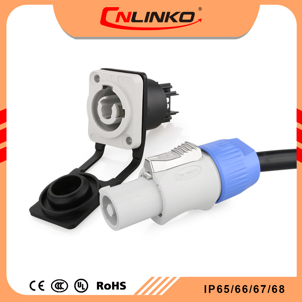 hight resolution of china 3 way plug speaker welding 20a sodering wires sockets with dust cover electrical connectors waterproof power cable assembly china round pin plug