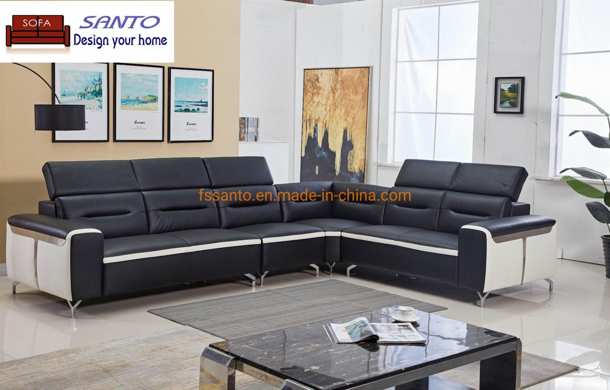 China Modern Fashion Sectional Sofa Set Corner Style Leather