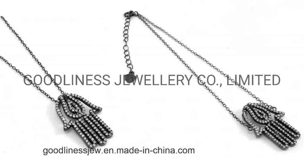 China Fashion CZ Crystal Jewelry 925 Sterling Silver
