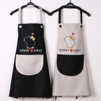 China New Design Adjustable 100% Cotton Kitchen Apron and ...