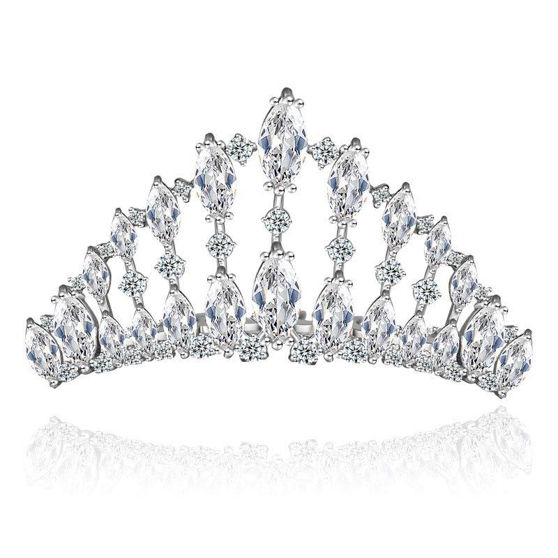 China Gorgeous Charming CZ Princess Pageant Crowns Tiara