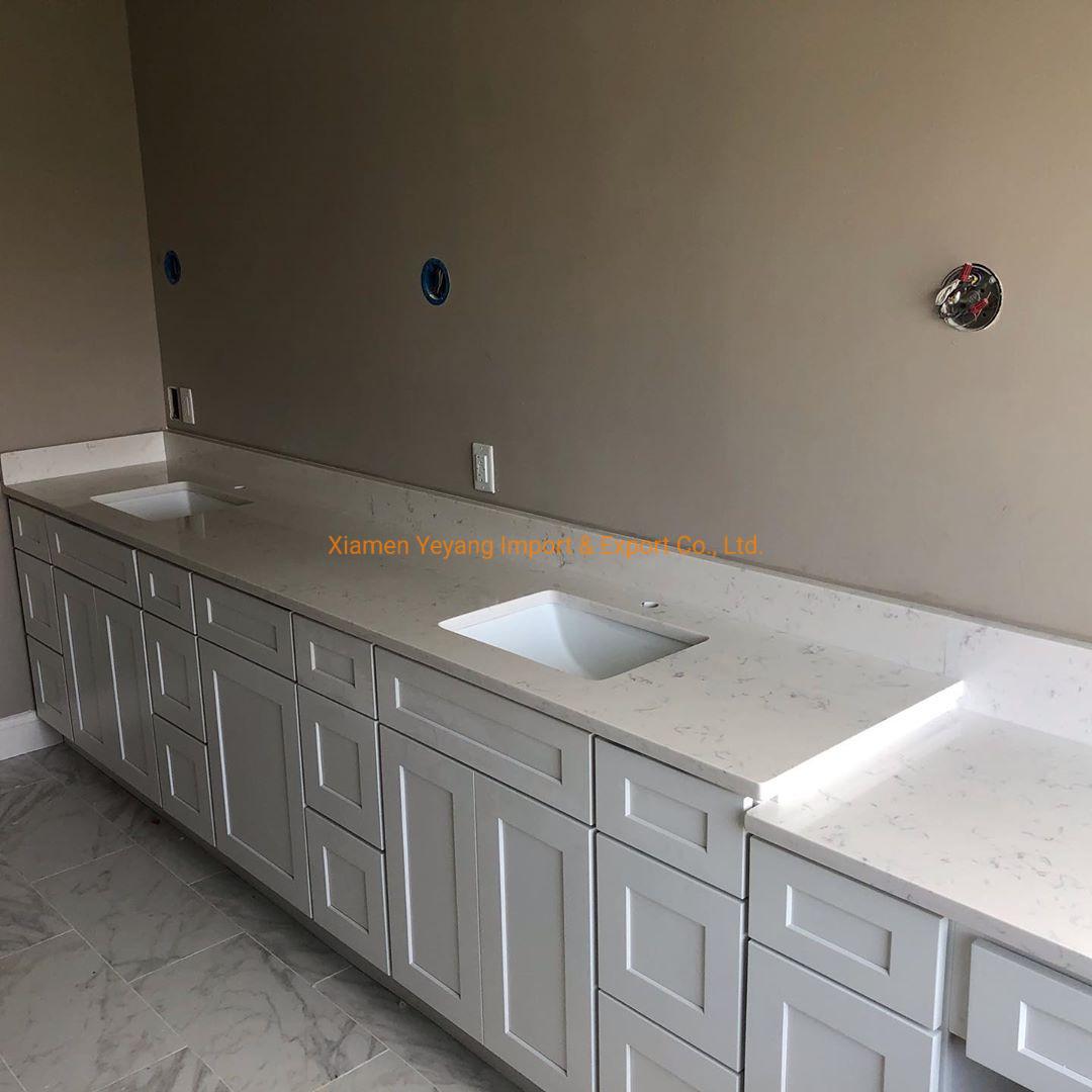 China Carrara Calacatta White Quartz Countertops For Kitchen Bathroom China Quartz Countertop Quartz