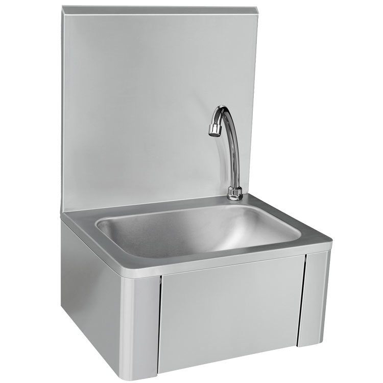 hot item stainless steel knee operated commercial hand wash sink basin manufacturer hospital wall mount hand washing kitchen sink factory