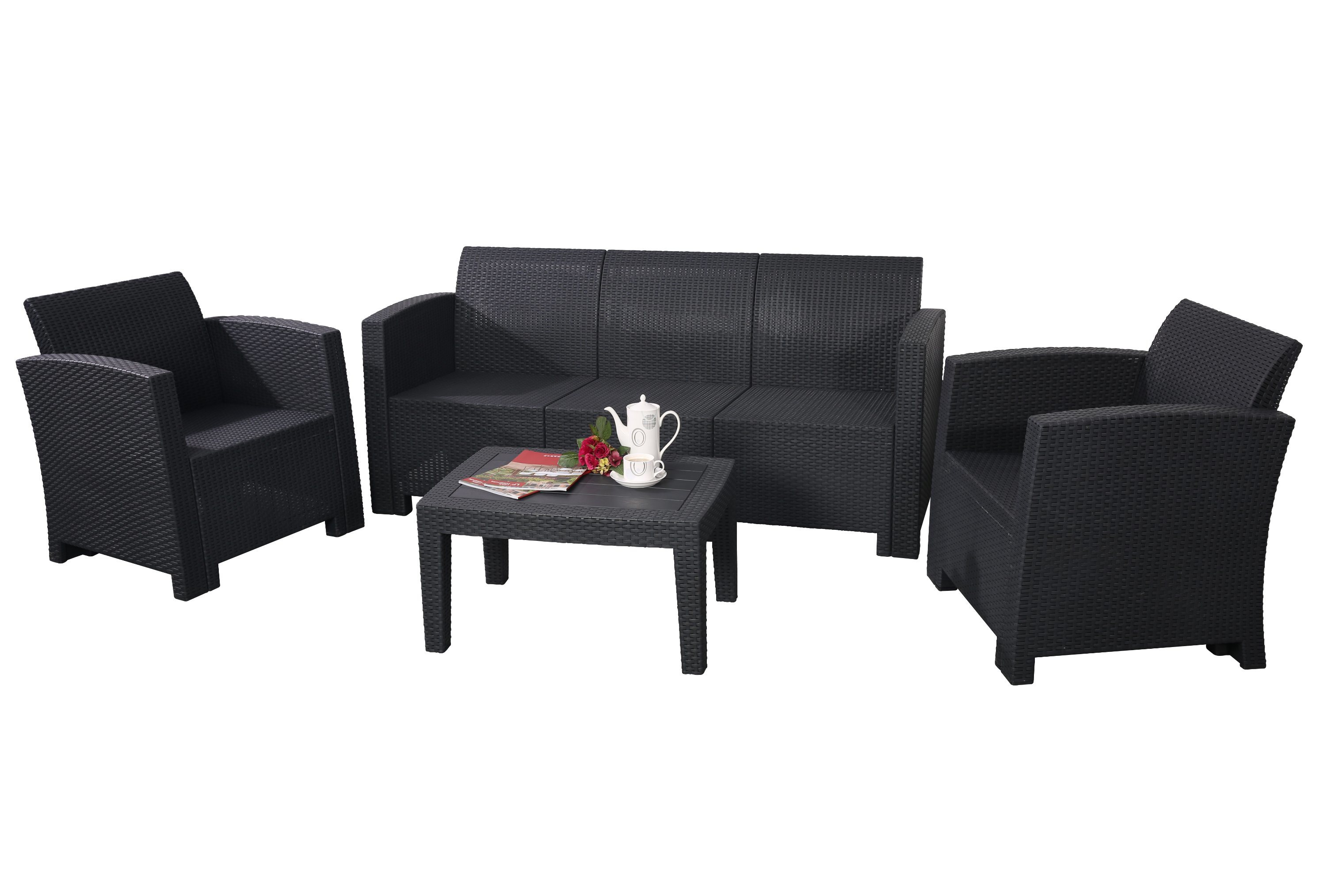 molded plastic outdoor sofa family room with black leather china new rattan furniture garden leisure