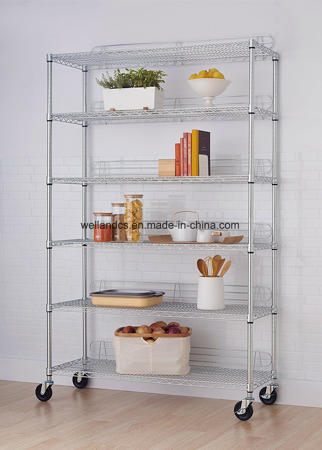 hot item 800lbs commercial kitchen storage shelf chrome metal wire shelving rack