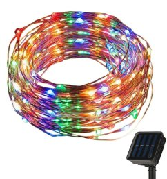 china solar battery copper silver wire string christmas fairy lights lamp china solar copper wire light solar string light [ 1000 x 1000 Pixel ]