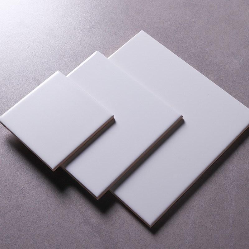 China 10x10 15x15 20x20cm Bathroom Design Matte Finish White Ceramic Floor And Wall Tile China Glazed Tiles White Subway Tile