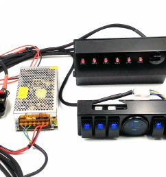 wrangler jk 6 switch panel with control and source system relay box assemblies for jeep jk jku 07 17 [ 1860 x 1391 Pixel ]