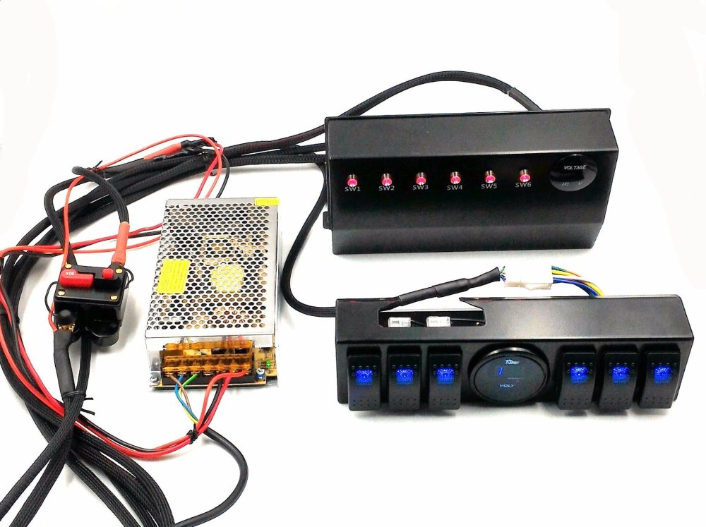 medium resolution of wrangler jk 6 switch panel with control and source system relay box assemblies for jeep jk jku 07 17