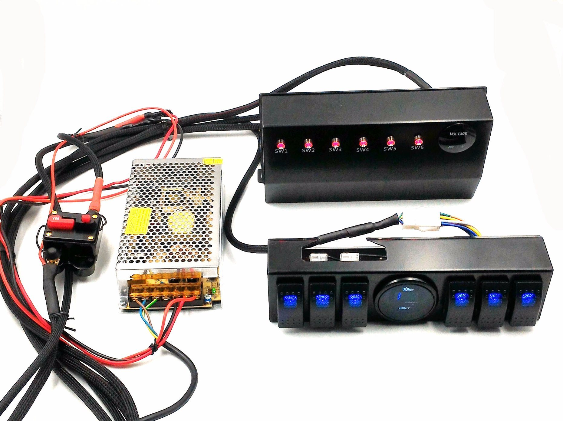 hight resolution of wrangler jk 6 switch panel with control and source system relay box assemblies for jeep jk jku 07 17