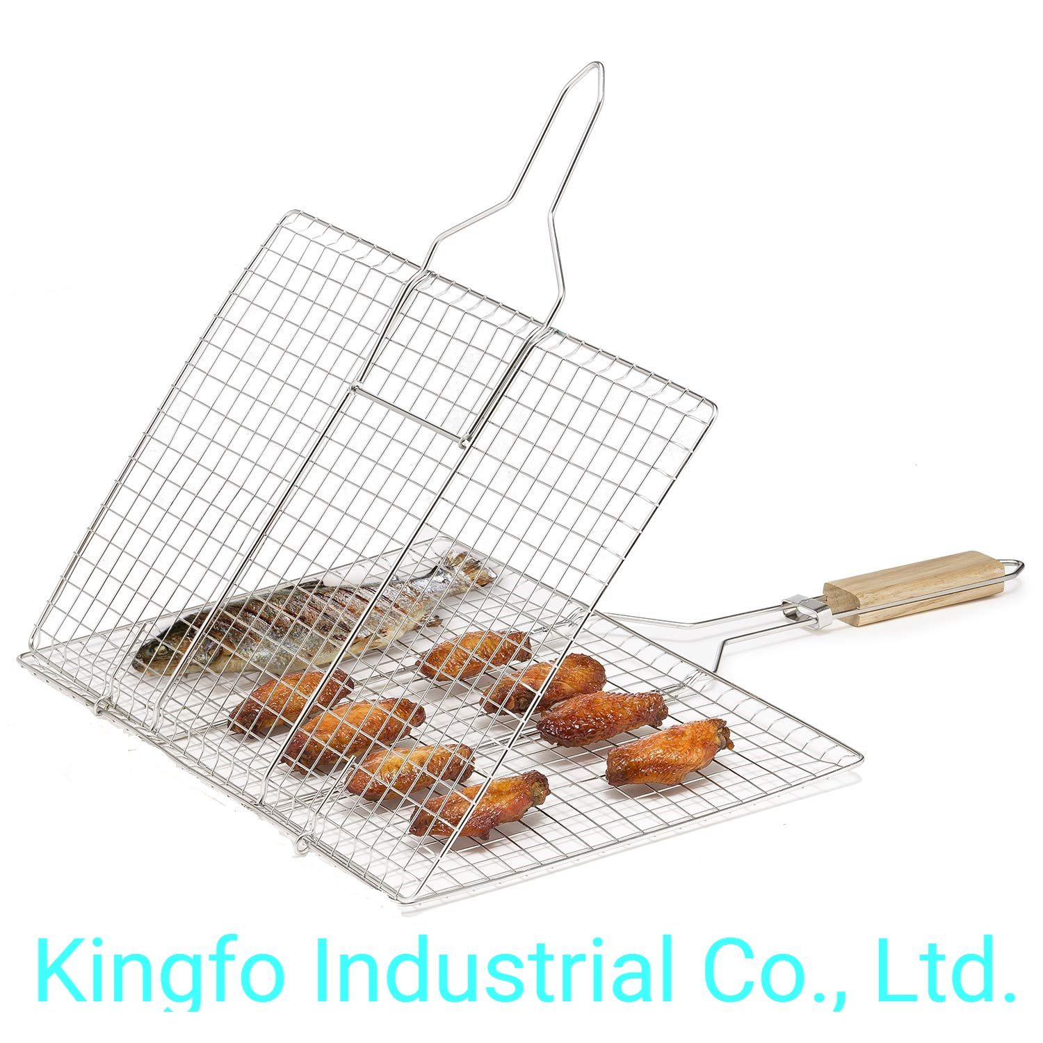 wooden handle bbq grilling tool rack
