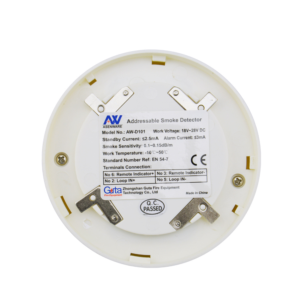 hight resolution of addressable smoke detector can be addressed individually fire alarm