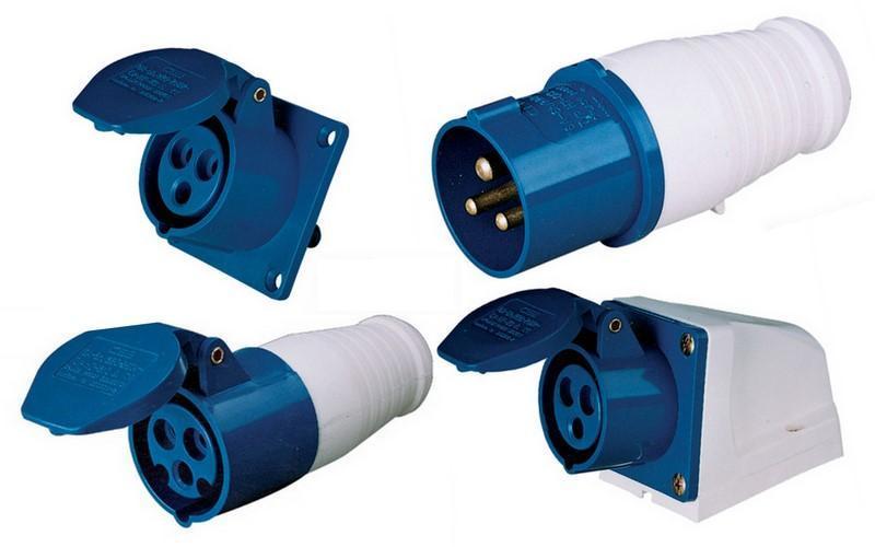 Caravan Mains Plug Wiring Diagram China 16a 3p 220v Ip44 Industrial Plug And Socket China