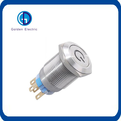 small resolution of led ring illuminated latching push button anti vandal metal push button switch