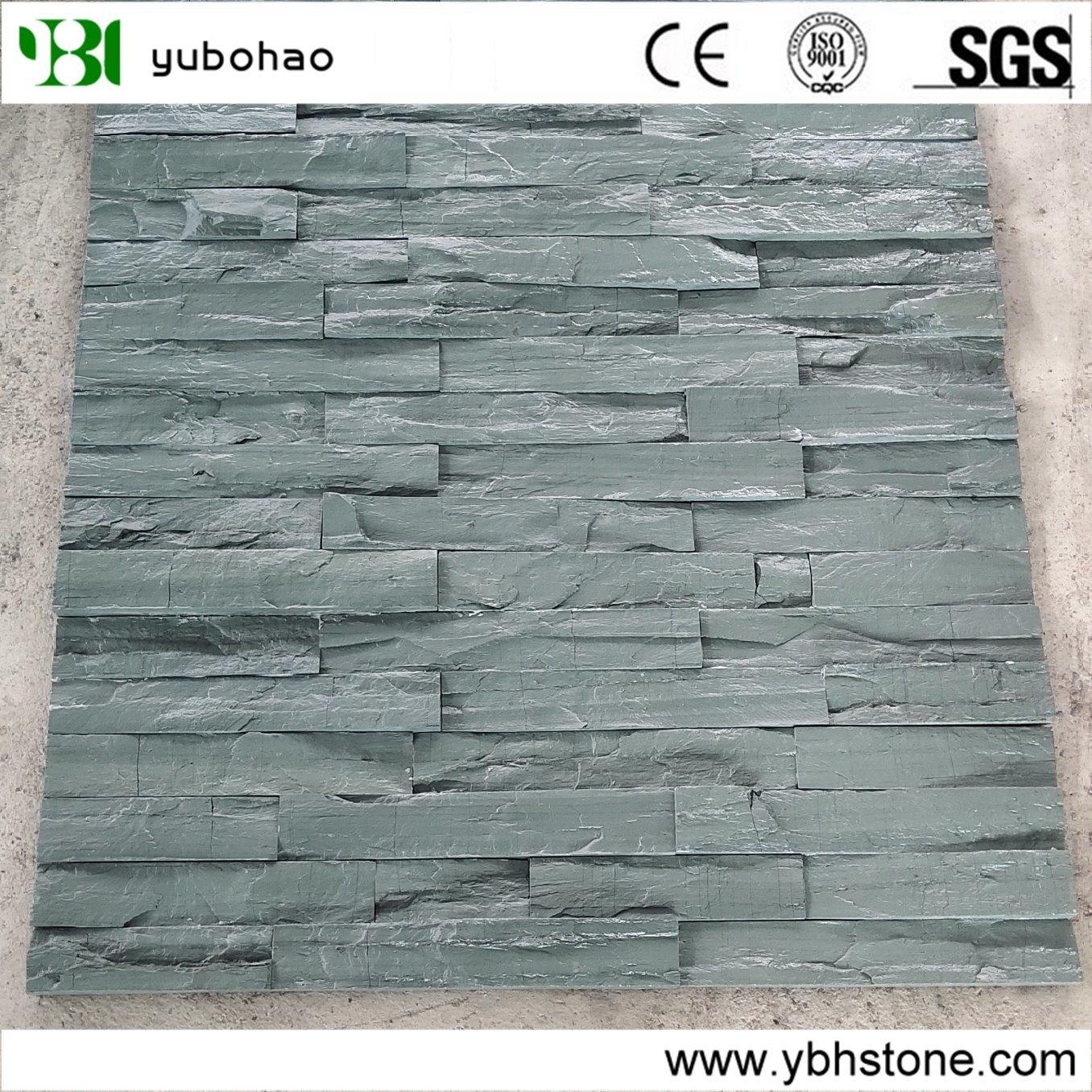 hot item split face green slate quartzite ledge stone tile stack stone for feature wall