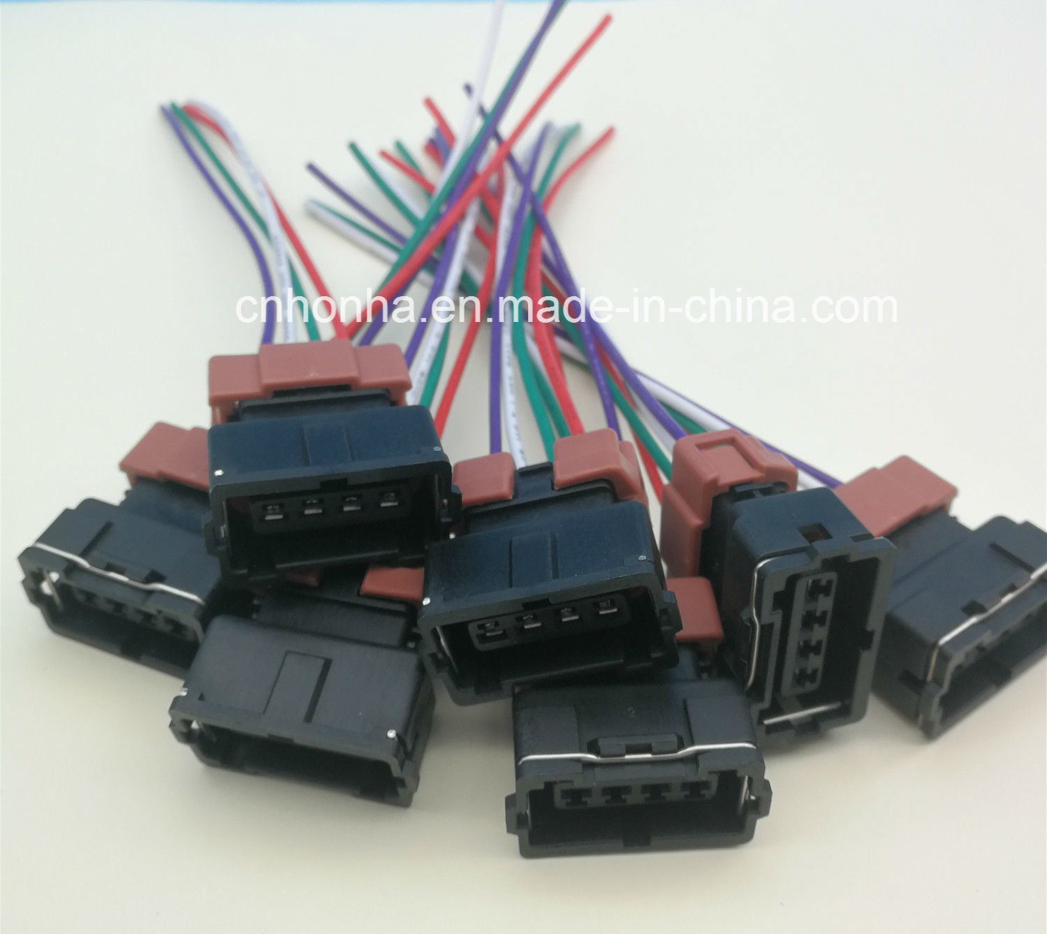 hight resolution of china 4 pin female toyota pbt connector wire harness for denso china cable wire wire harness