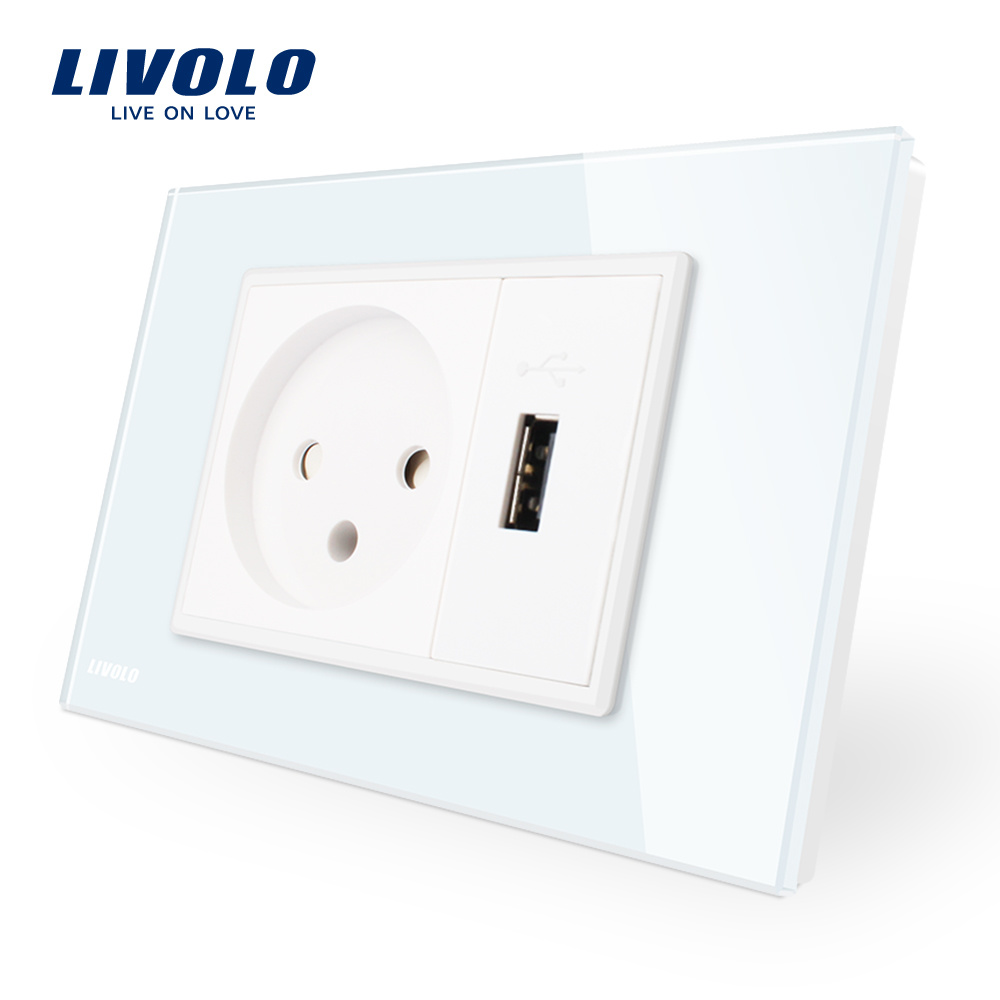 China Livolo Israel Power Outlet with USB Charger Wall