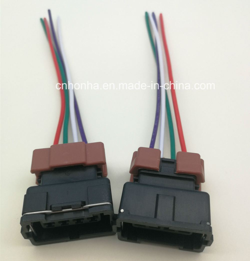 medium resolution of 4 pin female toyota pbt connector wire harness for denso