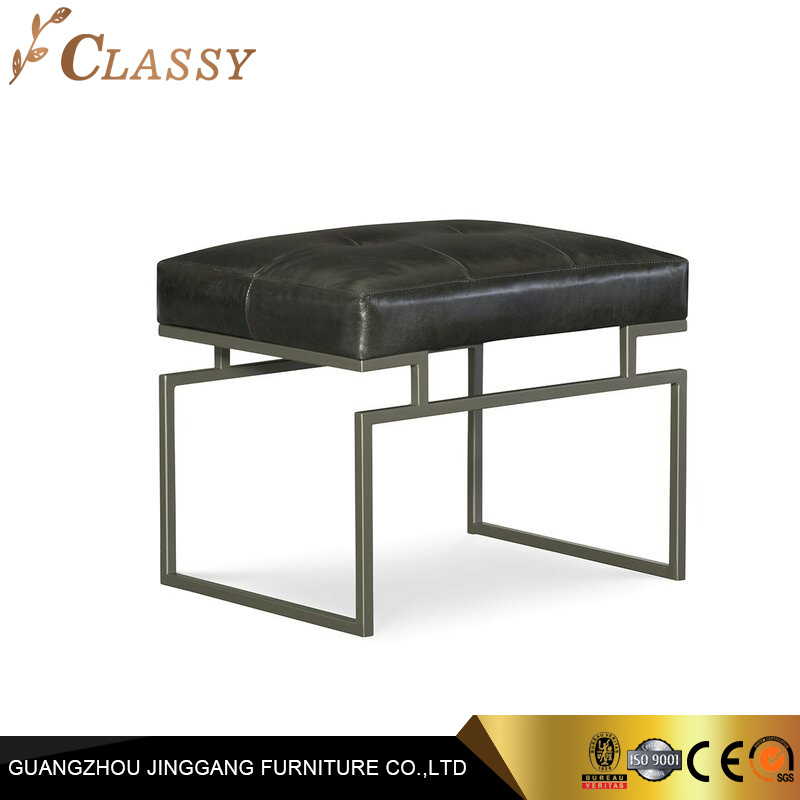 modern leather ottoman stool bench