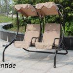 China Garden Furniture Outdoor Twin Metal Patio Steel Swing Rocking Chair China Chair Swing Chair