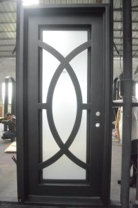 China Modern Design Wrought Iron Single Door Photos