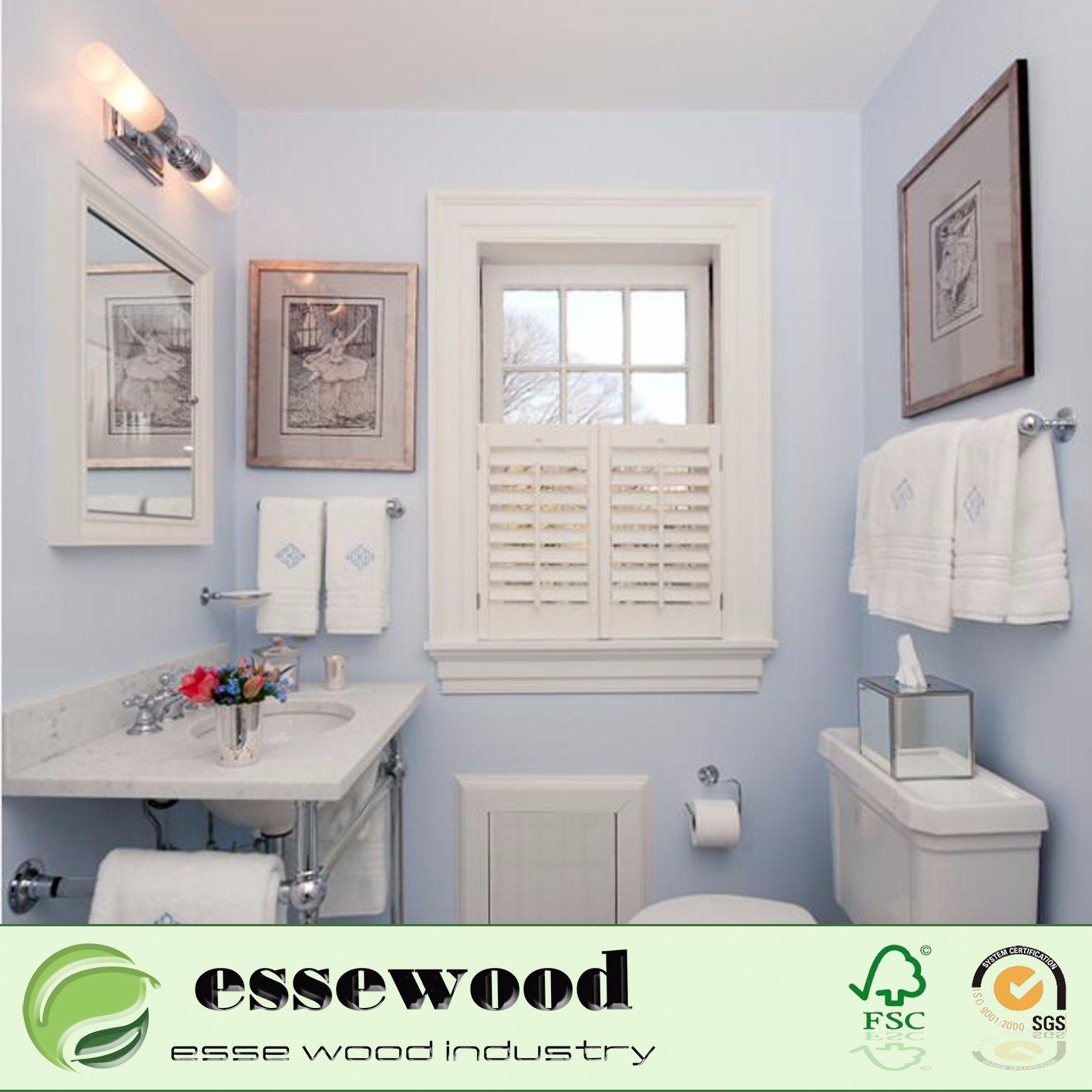 Hot Item Home Decor Bathroom Waterproof Pvc Plantation Shutter Window Decoration