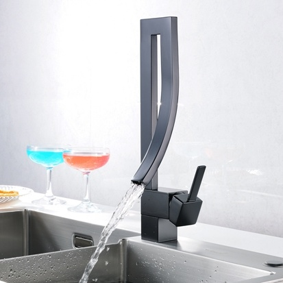 kitchen water faucet island bar china deck mounted tap black square