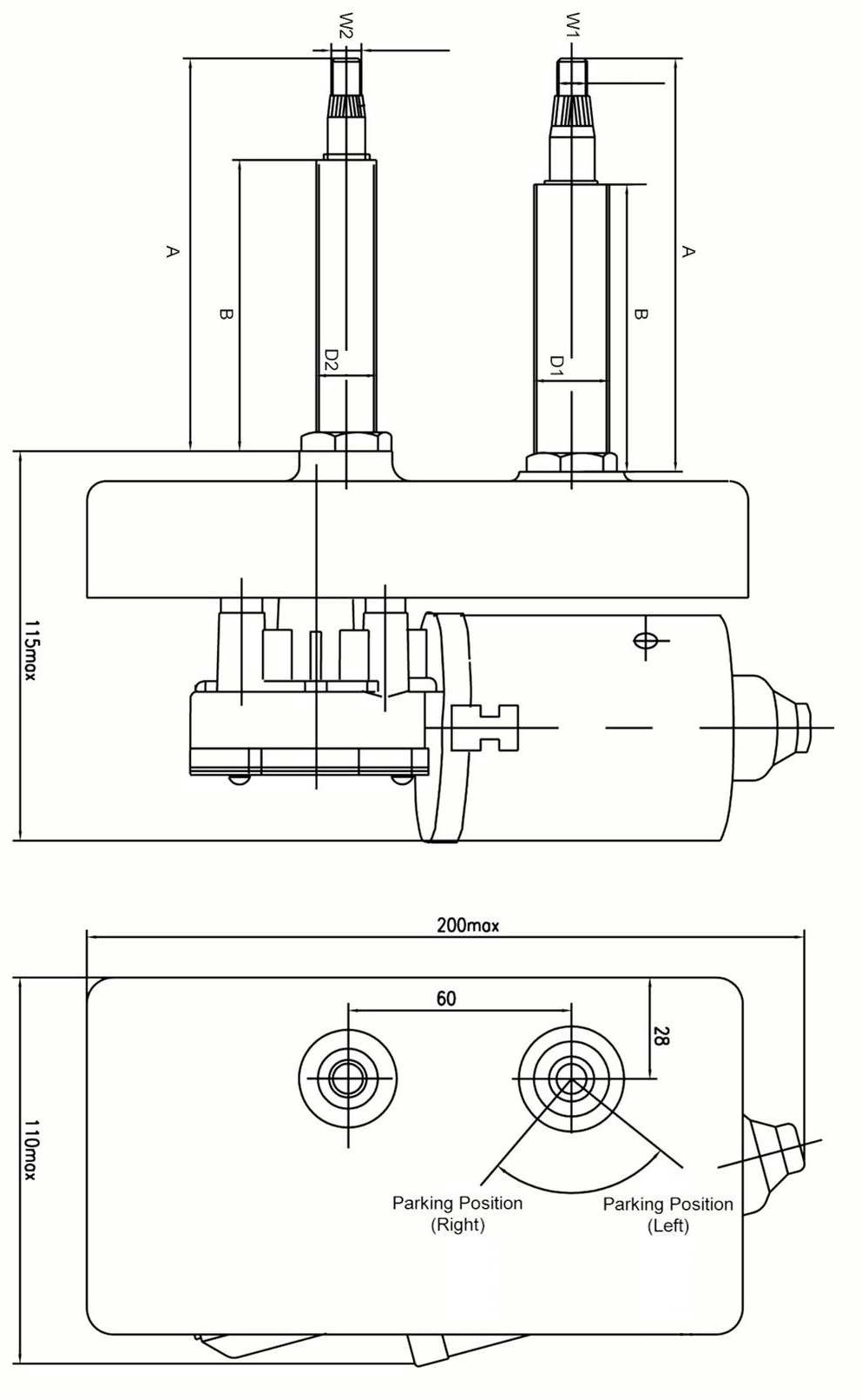 hight resolution of 5 6nm windshield bus wiper motor can replace swf 110 334 valeo 107 496 tm 93 1132