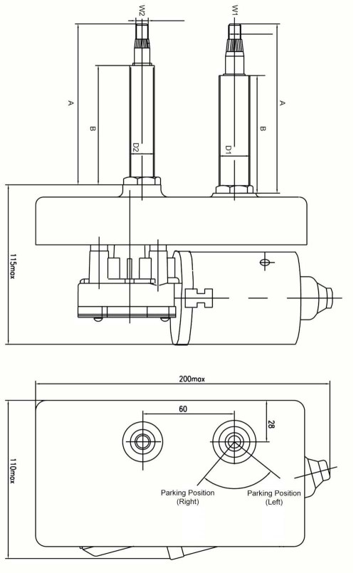 small resolution of 5 6nm windshield bus wiper motor can replace swf 110 334 valeo 107 496 tm 93 1132