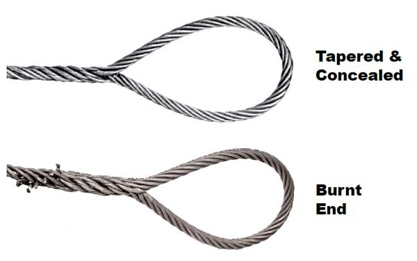 China Single-Part Body Hand Spliced Wire Rope Sling