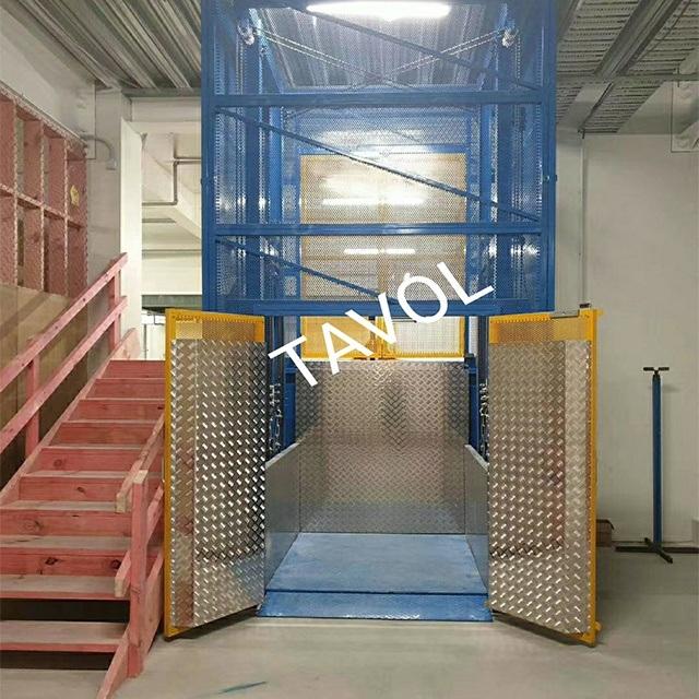 China 3ton Light Weight Cargo Elevator Hydraulic Garage Lift China Lift Platform Guide Rail Lift