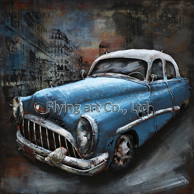 China Oil Painting D Metal Wall Decor For Sports Car Photos