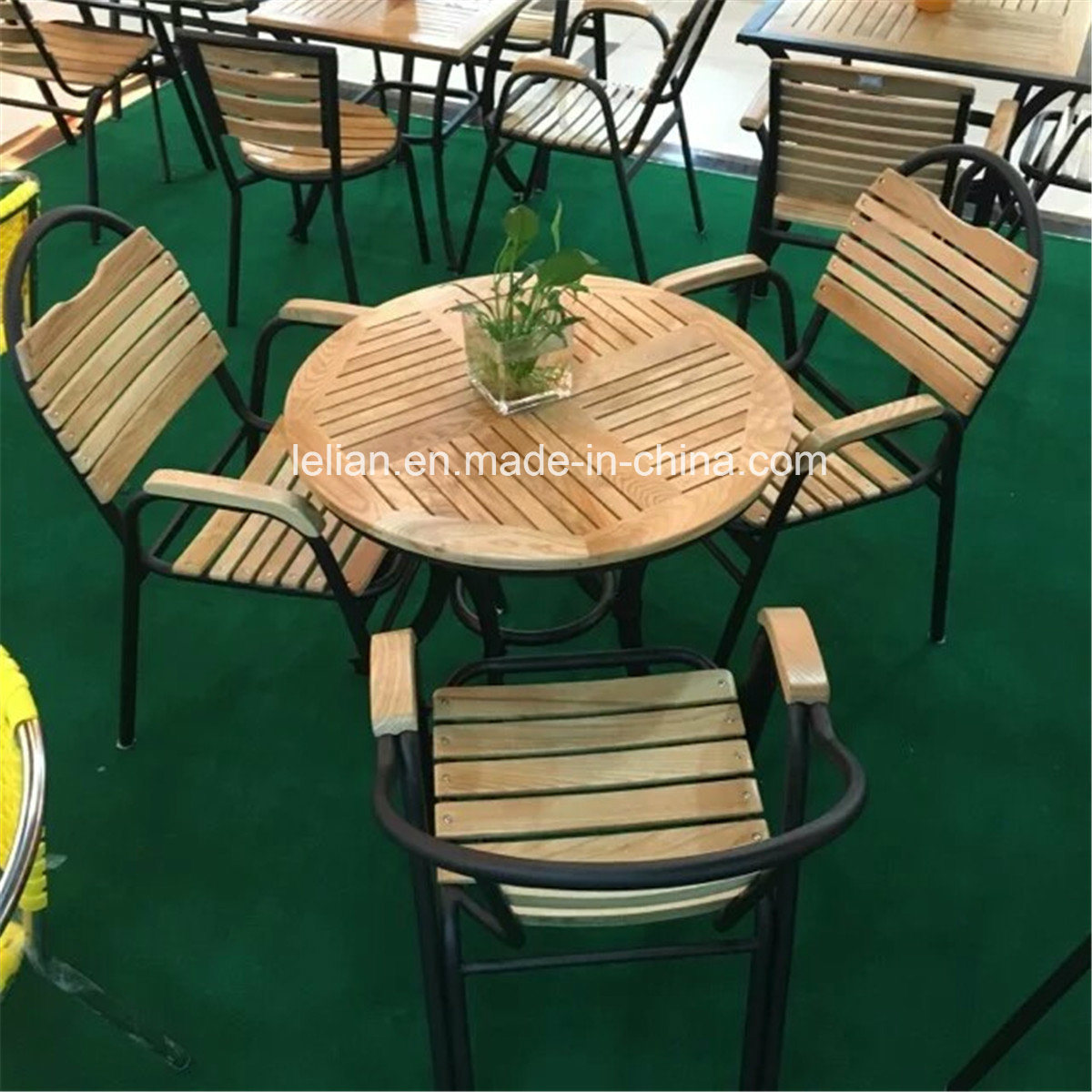 Outdoor Table And Chair Set Hot Item Garden Furniture Mdf Wood Table And Chair Set Ll Rst010