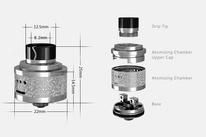 China 2016 Newest Hcigar Maze Rda with Double Deck Side