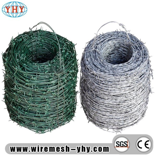 China Electro Galvanized 14 Gauge Steel Barbed Wire Farm Fence - Barb