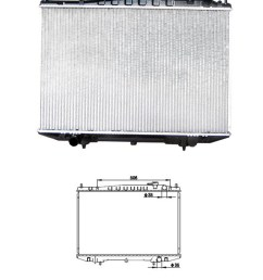 china after market cooling radiator fit for nissan frontier d22 navara pickup truck china 21410 2s400 21410 3s100 [ 920 x 1172 Pixel ]
