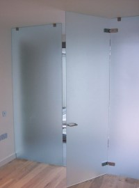 China Tempered Frosted Glass Bathroom Door - China ...
