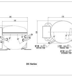 r600a dc compressor 12 24vdc qdzy35g for car refrigerator freezer [ 1060 x 748 Pixel ]