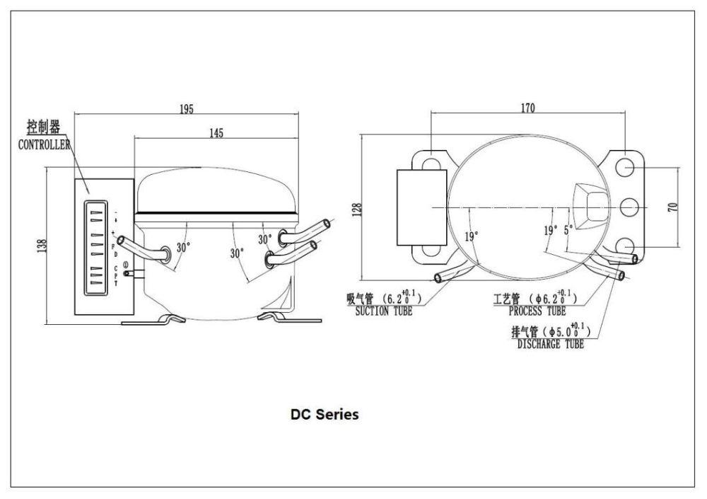 medium resolution of r600a dc compressor 12 24vdc qdzy35g for car refrigerator freezer