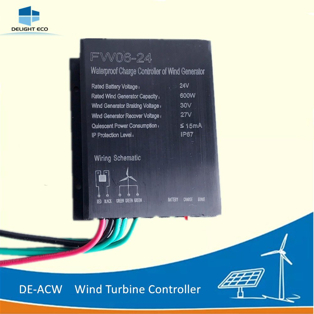 hight resolution of china delight de acw 300w 600w 12v 24v ip67 wind turbine generator charger controller china controller wind turbine controller